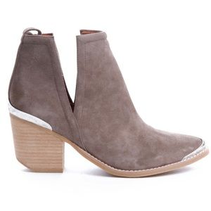 Jeffrey Campbell Suede Western Ankle Booties